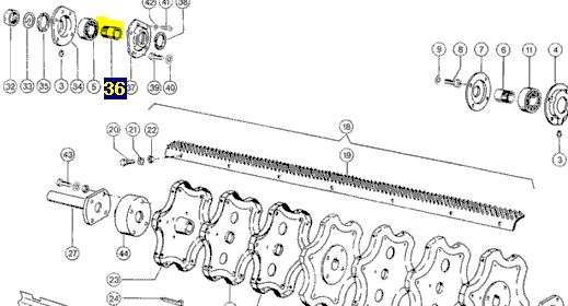 235882 Втулка підшипника з гайкою H210 JHB Claas 235882