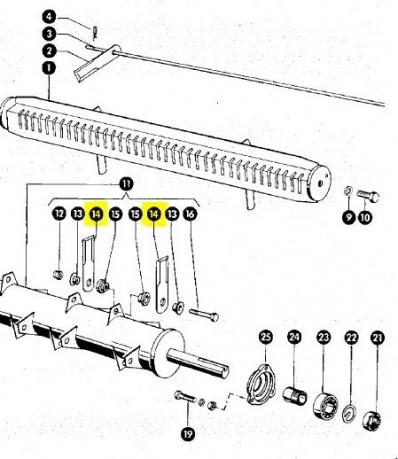 060017 Ніж подрібнювача січкарні рухомий товщина 4mm