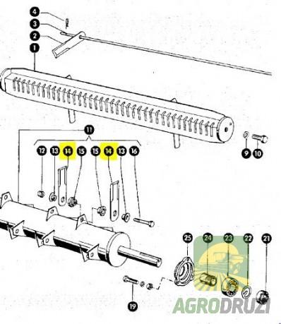 Ніж подрібнювача січкарні рухомий товщина 4mm, 50x173mm, d=18mm RASSPE CLAAS 060017