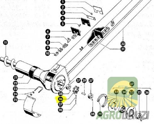 Зірочка елеватора Z7 d=35mm 674406 CLAAS