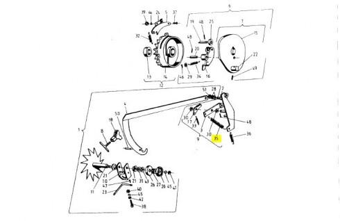 Пружина вязального апарату 2x17x82 089-000976-5.11 Sipma Original