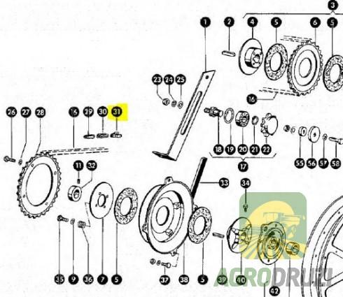 Перехідна ланка ланцюга S32 CLAAS 801494