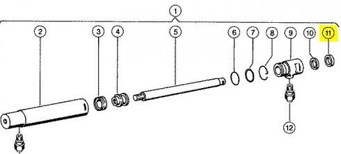 Кільце ущільнююче циліндра жатки CLAAS