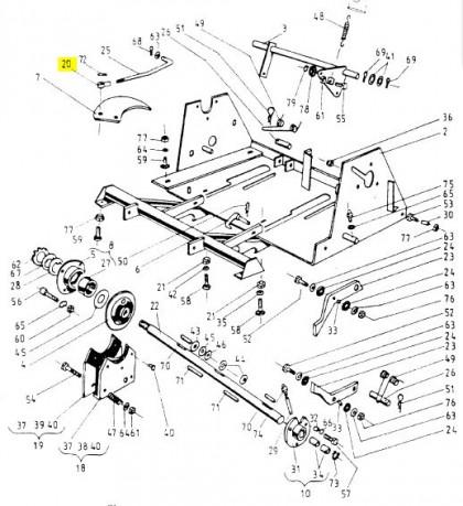 Накінечник з різьбою тяги кріплення апарату 2023-070-005 Original