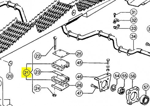 678522 Підшипник дерев'яний соломотряса d=40mm CLAAS