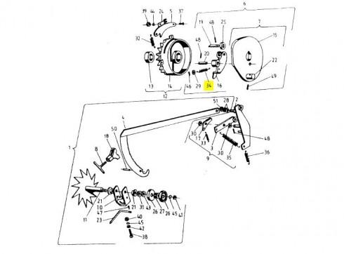 Пружинка приводу в'язального апарату 2х14х55 089-000976-4.716 (Аналог)