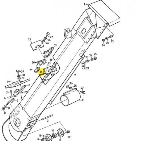 Лопатка гумова елеватора John Deere Z20780