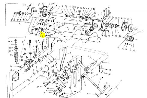 Зірочка приводу шнека Sipma Z19 2023-060-580
