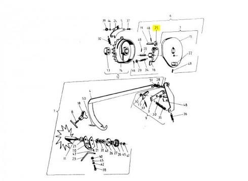 Ролик тарілки приводу в'язальних апаратів (Аналог) 2010-080-106