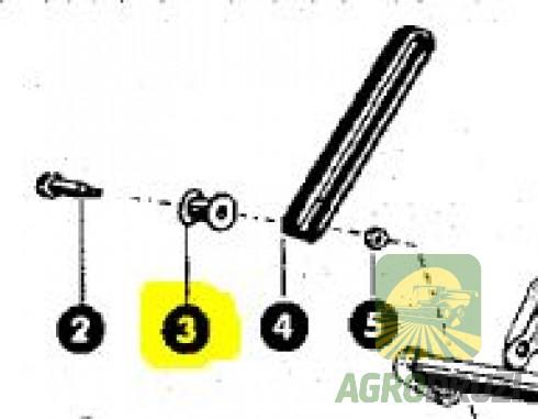 Втулка тефлонова натяжна в шнеку 8,1x12x20 CLAAS 610471