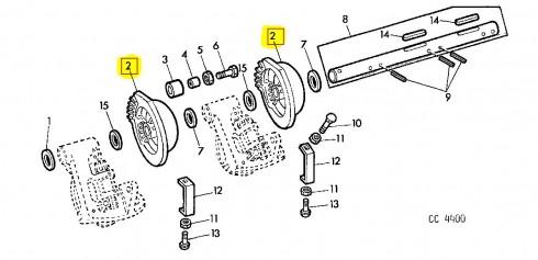 Тарілка приводу в'язальних апаратів JOHN DEERE E65028