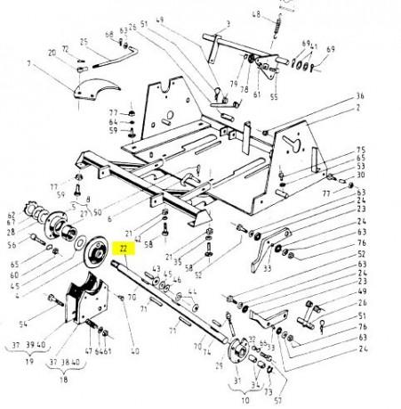 Вал в'язального апарату Sipma Original 2023-070-106