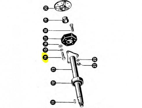 Болт гумового зчеплення M16x65  237415