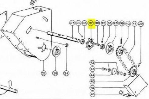 Зірочка елеватора Z7 d=26mm CLAAS 678856