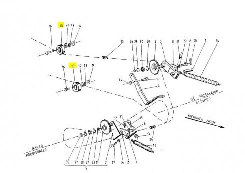Ролик пластиковий натяжний ланцюга (Аналог) 2010-060-144