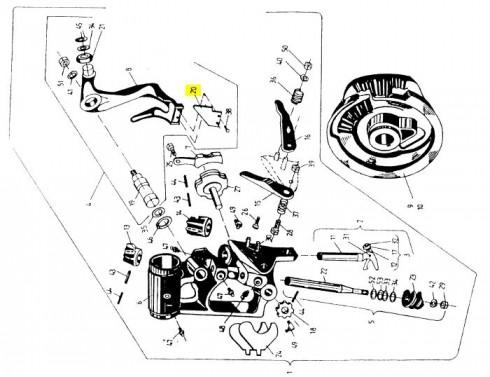 Ніж ричага в'язального апарату 2026-070-108 Sipma Original