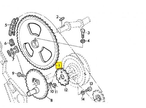 Зірочка соломотрясів  Z63 fi30 John Deere Z10025