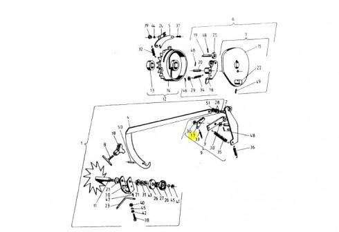 Собачка ричаг (стоїть біля ричага регулювання довжини тюка) 5223-08-004 (Аналог)
