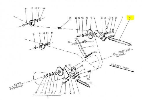 Пружина натяжна головного ланцюга 089-000976-5.916
