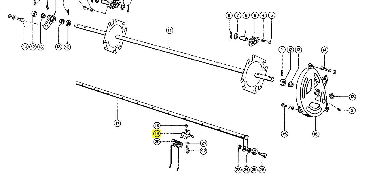 807264 Тримач пружини мотовила CLAAS 807264. Ціна