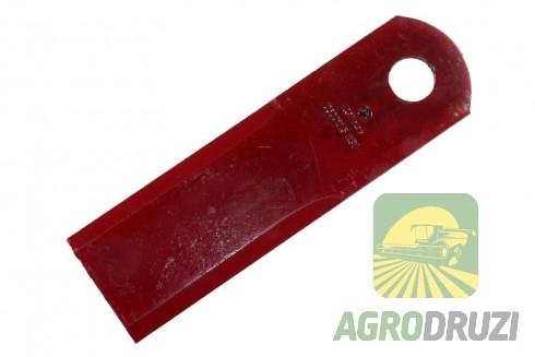 Ніж подрібнювача січкарні рухомий товщина 3mm, 50x173mm, d=18mm AGV CLAAS 060017