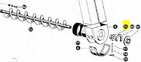 Зірочка елеватора Z7 d=30mm CLAAS 503027
