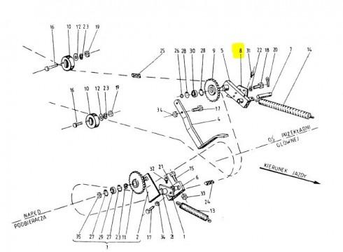 Плитка натяжки головного ланцюга 2023-048-141