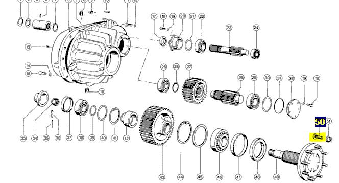 602116 Болт шпилька колеса M22x1.5x65 Claas 602116. Ціна
