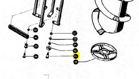 Болт-палець підшипника бігової доріжки 805092
